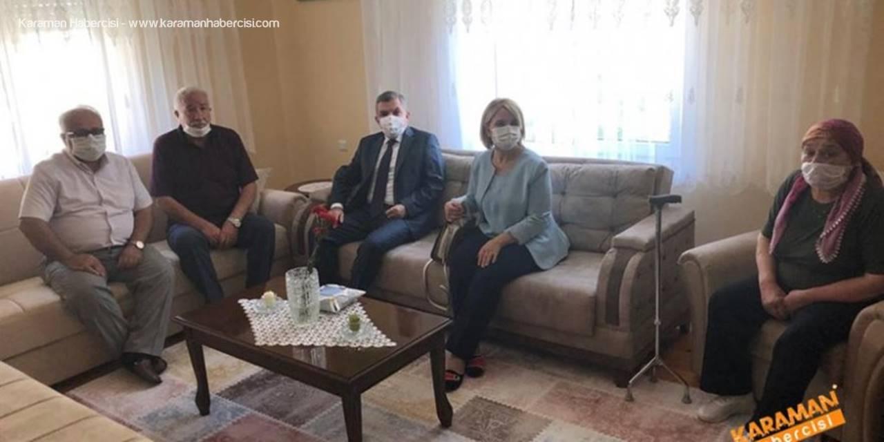 Karaman'da Polis Merkezlerine ve Şehit Ailesine Ziyaret