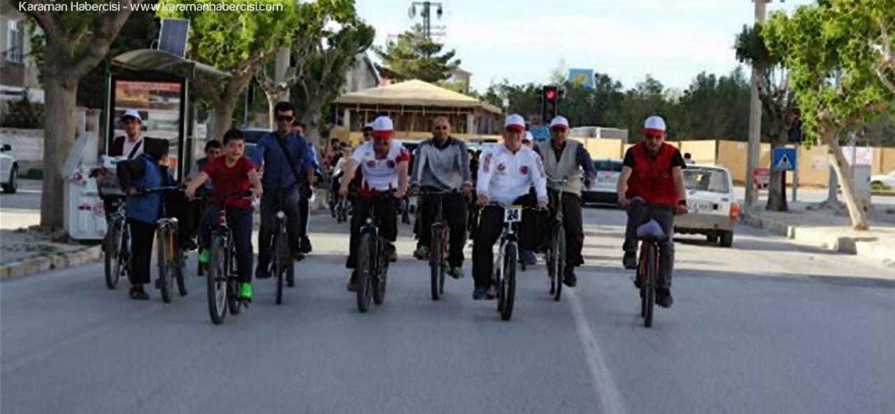 Karaman'da ''Sağlık İçin Pedal Çeviriyoruz'' Projesi Gerçekleşti