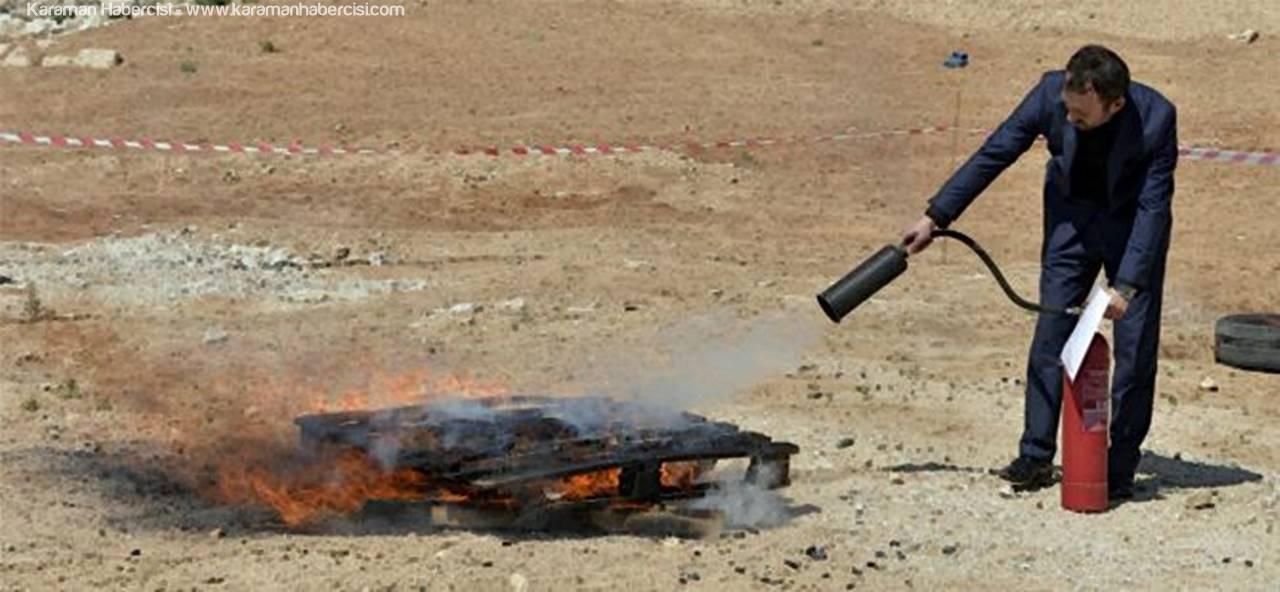 KMÜ'de Yangın Tatbikatı Yapıldı