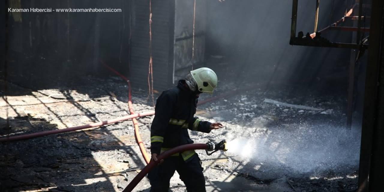 Antalya'da İş Yerinde Yangın Paniği