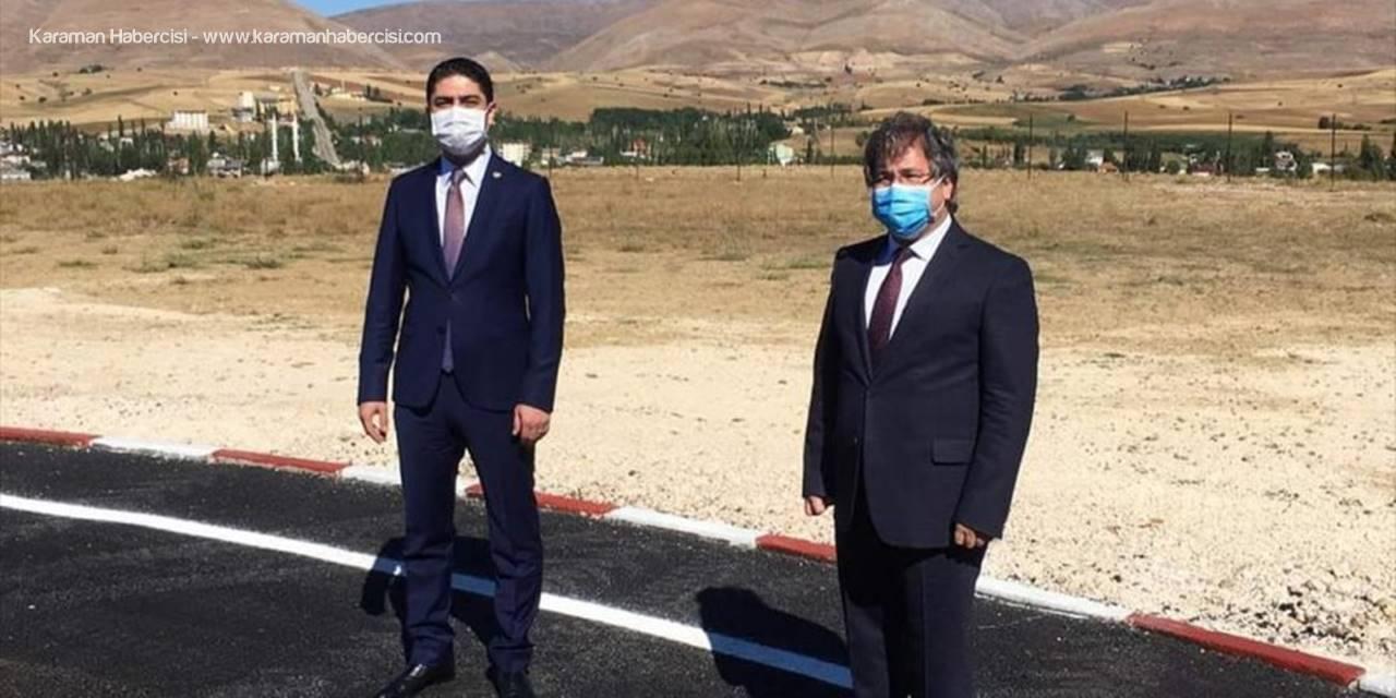 Kayseri'nin Sarız İlçesine Helikopter Pisti Yapıldı