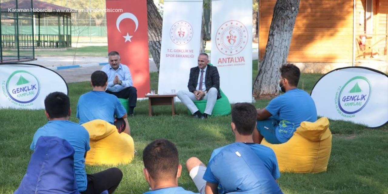Antalya Valisi Yazıcı, Alaaddin Keykubat Kampı'nda Gençlerle Buluştu