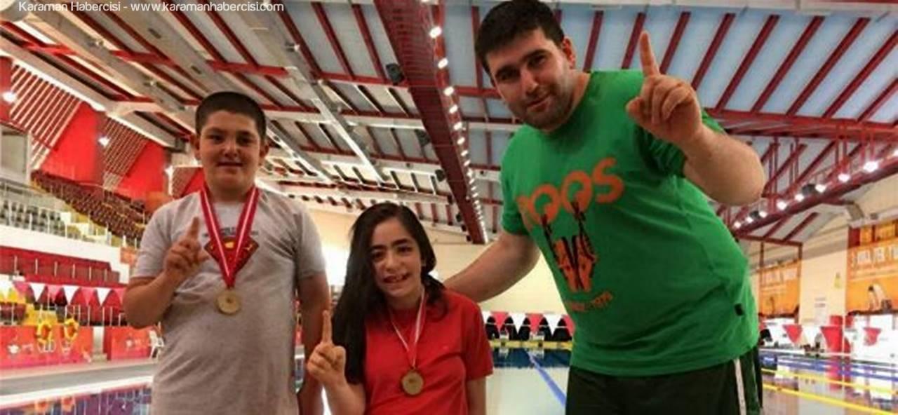 Türkiye Yüzme Şampiyonasına Karaman Damga Vurdu
