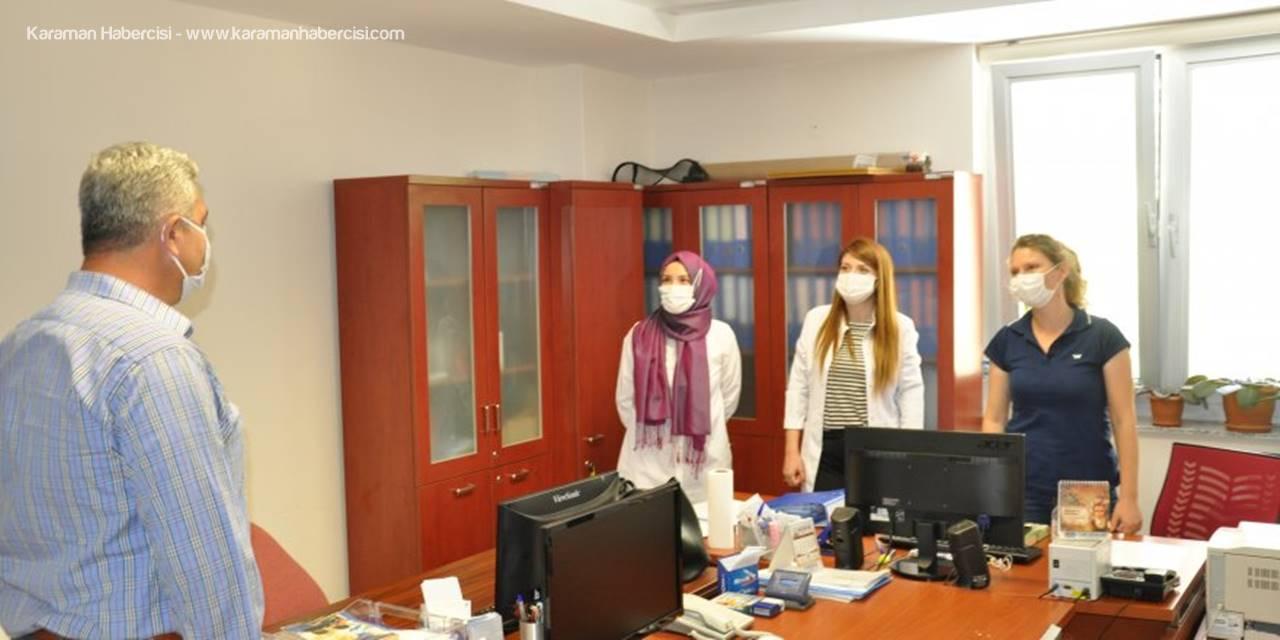 Ermenek'te Başkandan Sağlık Çalışanlarına Ziyaret