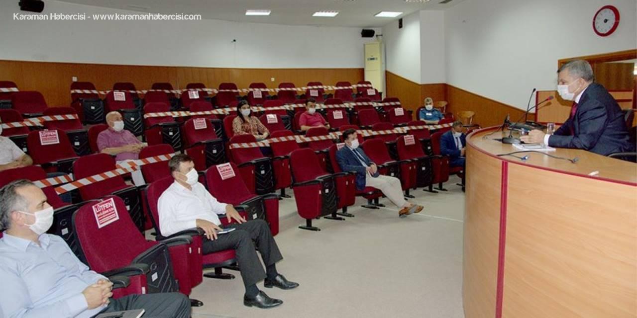 Karaman'da Koronayı El Birliğiyle Yenmeliyiz