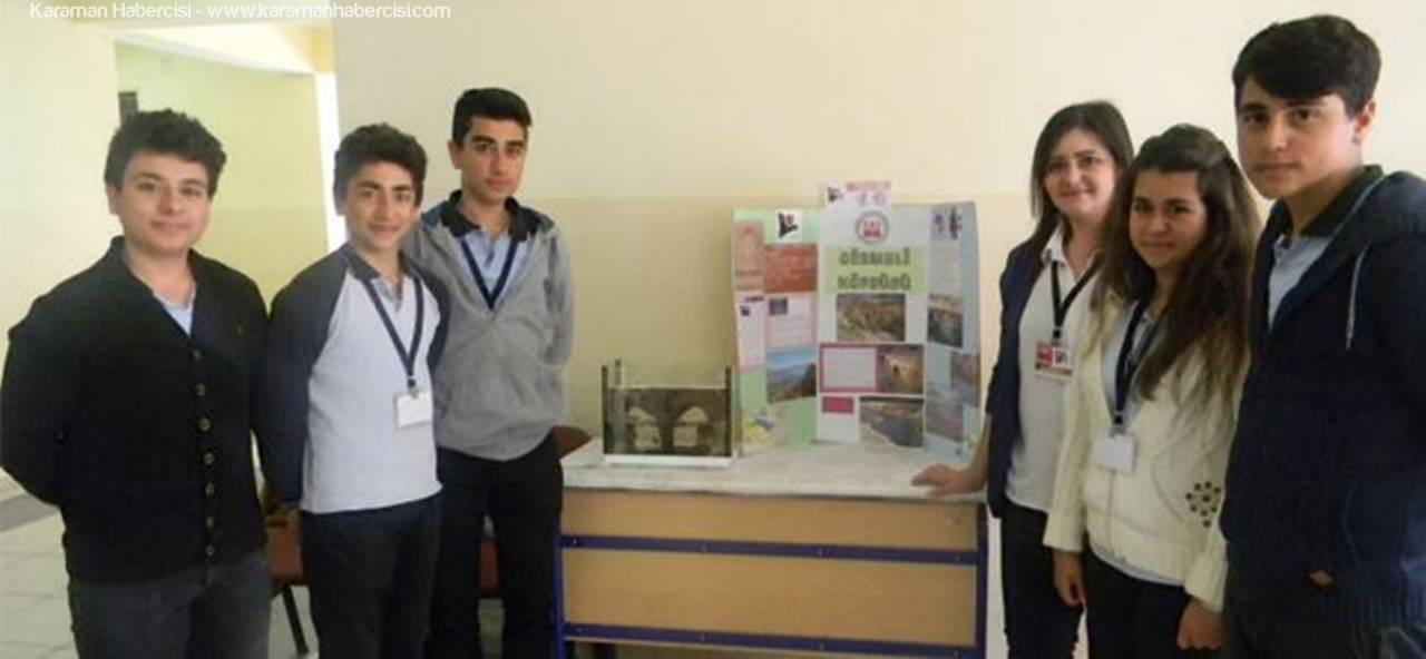 Larende Anadolu Lisesi'nde TÜBİTAK Bilim Fuarı Açıldı