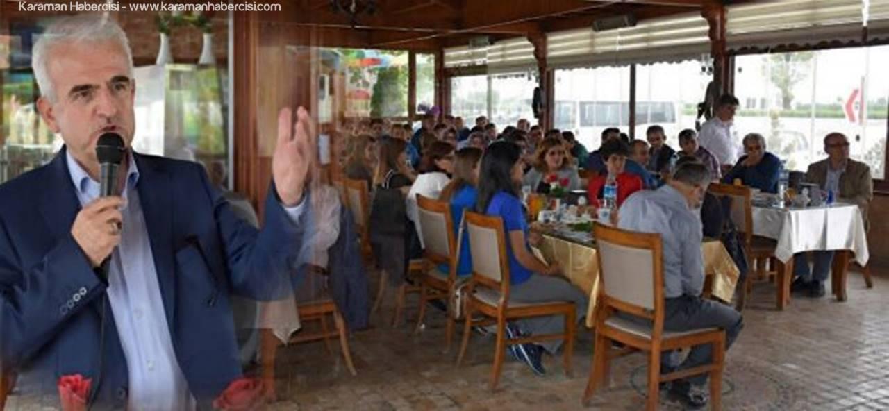 Kuntoğlu, Milli Eğitim Personeliyle Yemekte Bir Araya Geldi