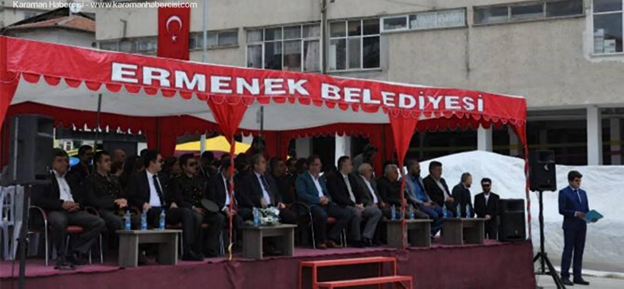 Ermenek'te 19 Mayıs Düzenlenen Törenle Kutlandı