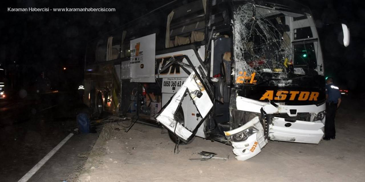 Aksaray'da Yolcu Otobüsü İle Kamyon Çarpıştı: 4 Yaralı