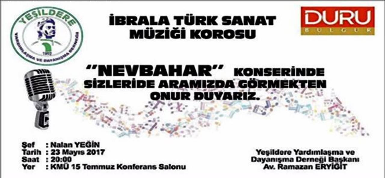 Türk Sanat Müziği Konseri Yarın