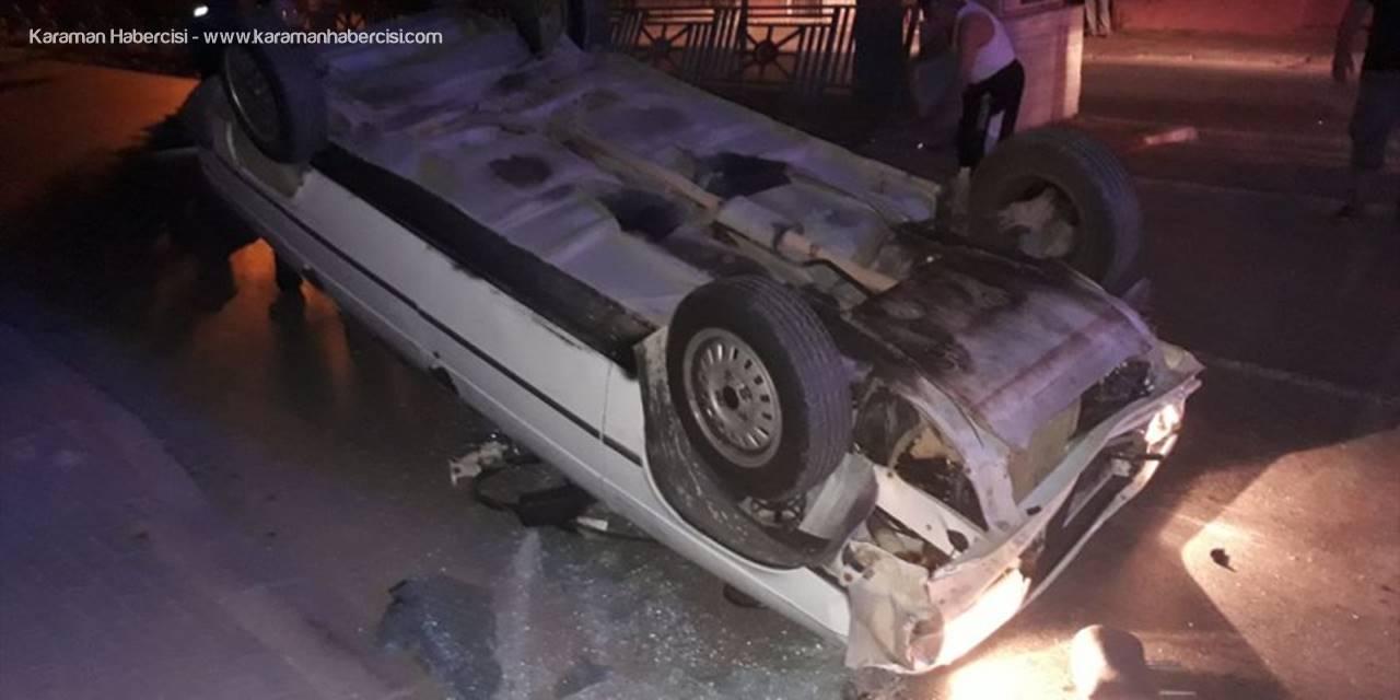 Mersin'de Takla Atan Otomobilin Sürücüsü Yaralandı