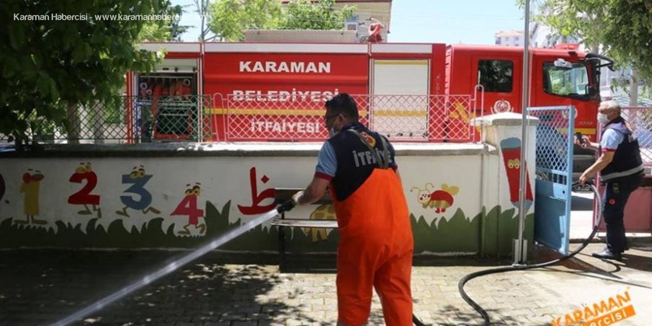 Karaman'da Dezenfekte ve Temizlik Çalışmaları