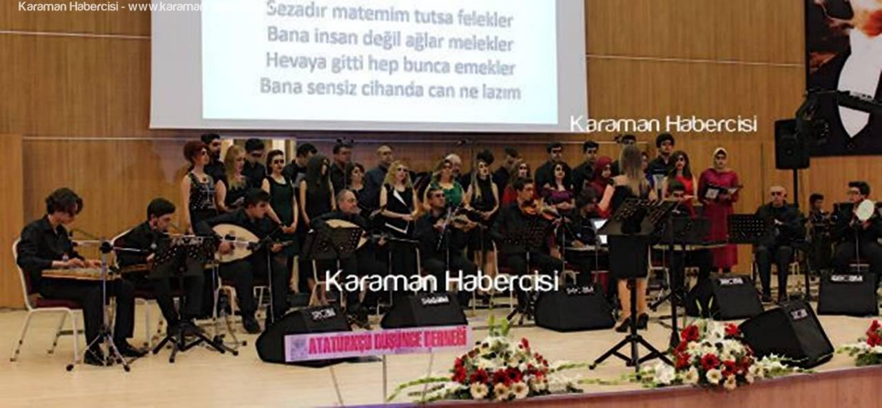 Karaman'da Türk Sanat Müziği Konseri