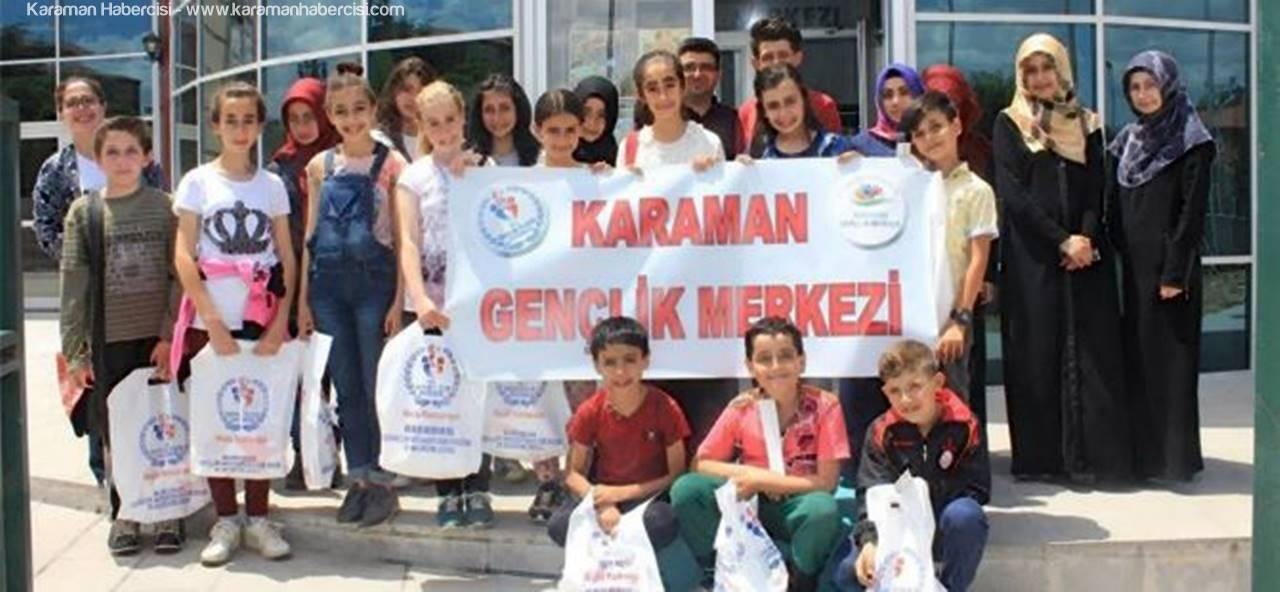 Öğrenciler, Karaman Gençlik Merkezini Ziyaret Ettiler