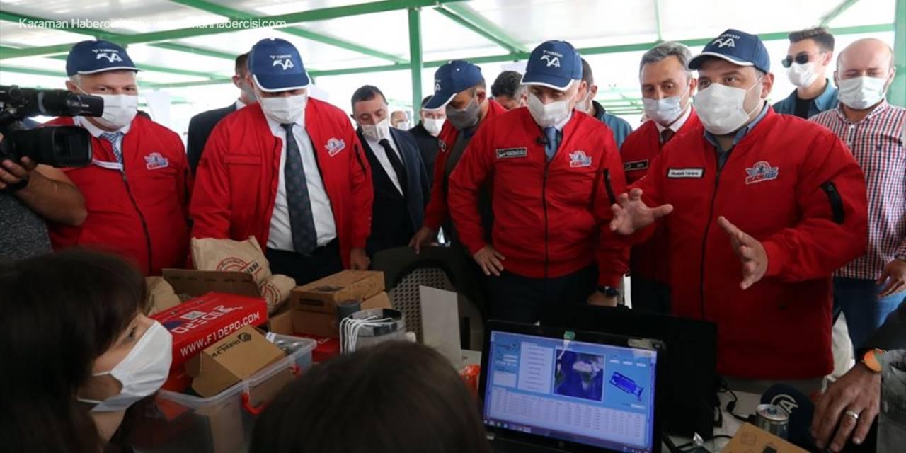 Bakanlar Karaismailoğlu Ve Varank Türksat Model Uydu Yarışması'na Katıldı