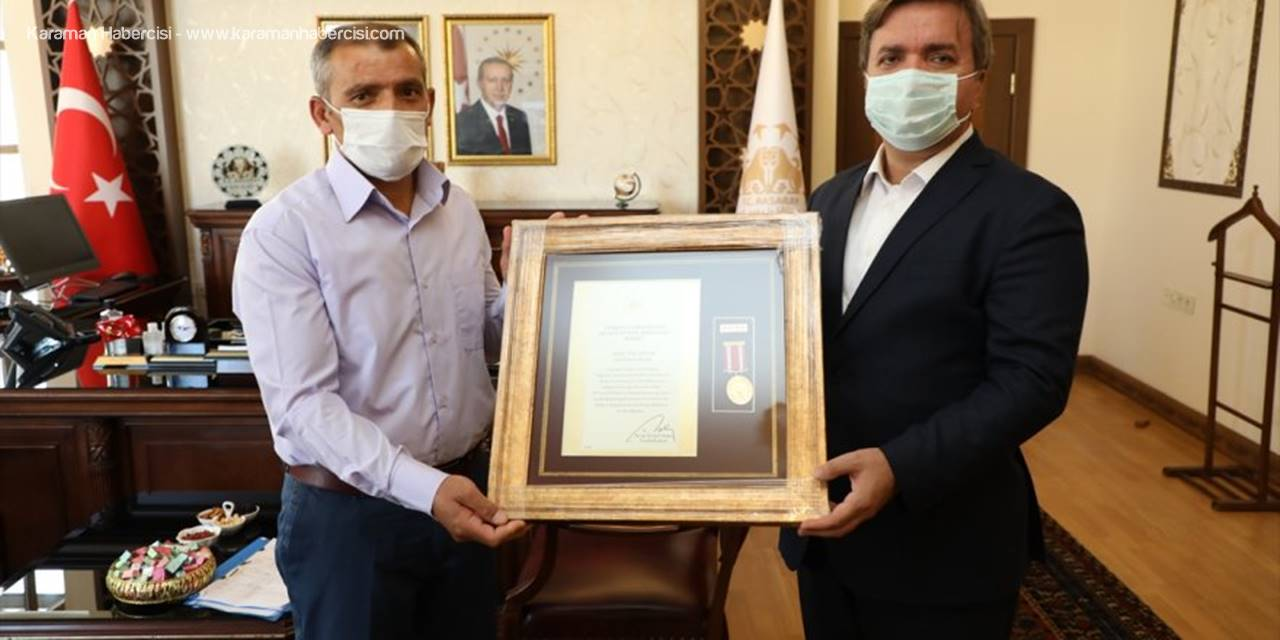 """Aksaray'da """"Devlet Övünç Madalyası Ve Beratı Tevcih Töreni"""" Yapıldı"""