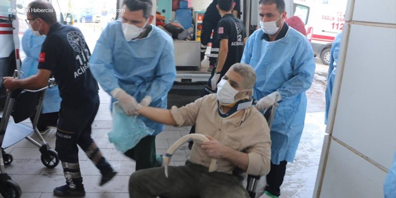 Aksaray'da Devrilen Yolcu Otobüsünde 2'si Ağır 37 Kişi Yaralandı