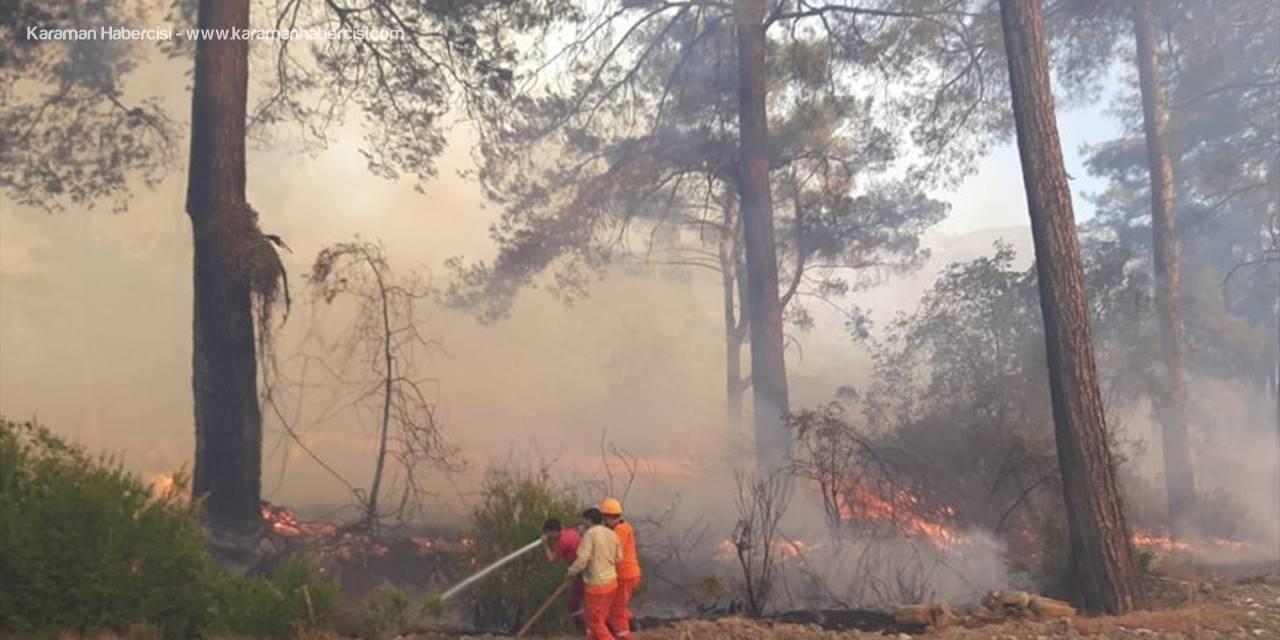 Antalya'da Seralara Da Sıçrayan Orman Yangınına Müdahale Ediliyor