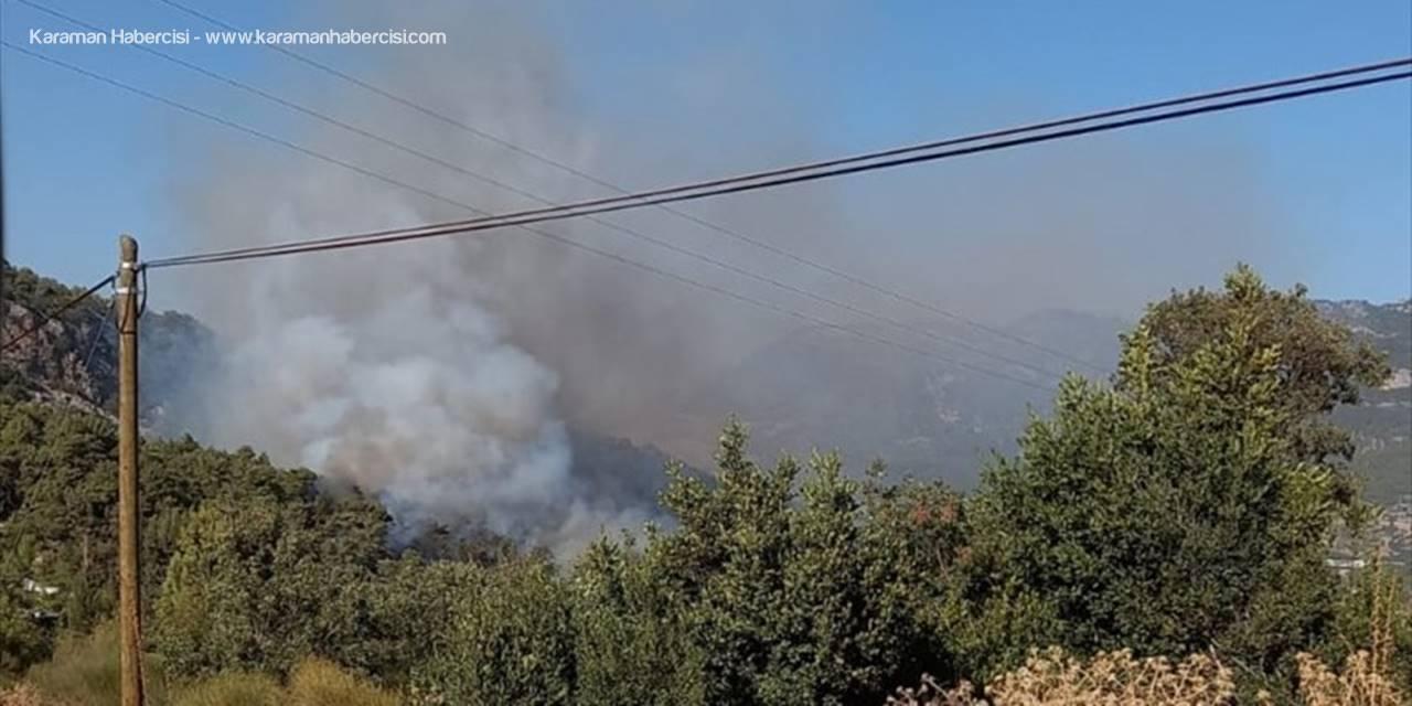 Antalya'da Çıkan Orman Yangınına Havadan Ve Karadan Müdahale Ediliyor