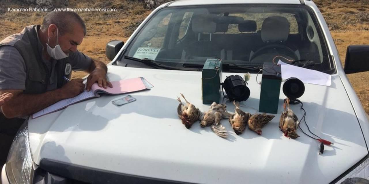 Karaman'da Kaçak Avcılara Ceza
