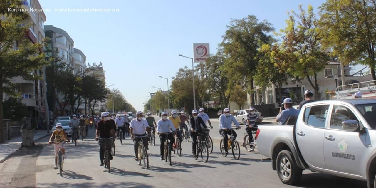 Avrupa Hareketlilik Haftası Kapsamında Karapınar'da Bisiklete Binildi