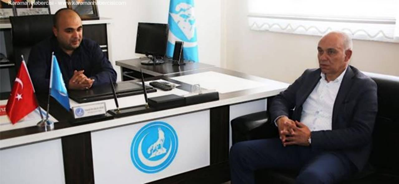 Başkan Çalışkan'dan, Karaman MHP Teşkilatına Hayırlı Olsun Ziyareti