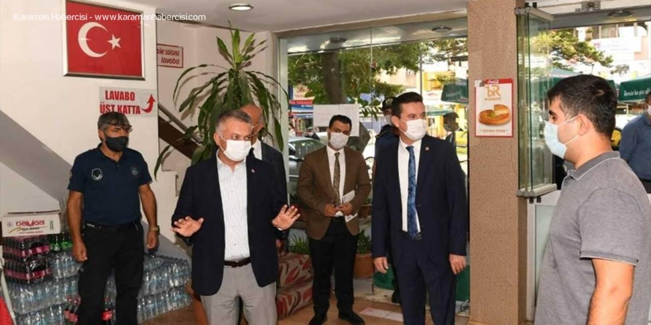Antalya'da Kovid-19 Denetimi