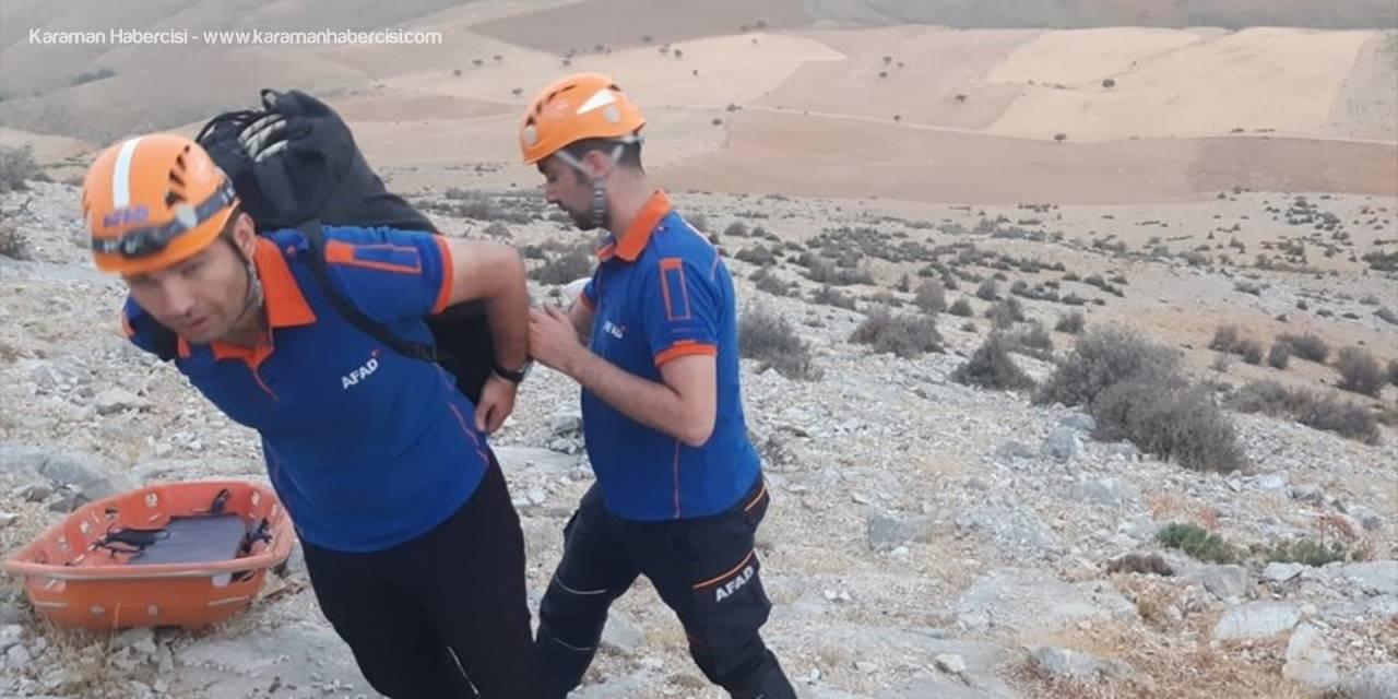 Konya'da Tırmanış Sırasında Ayağı Kırılan Dağcıyı Afad Ekipleri Kurtardı