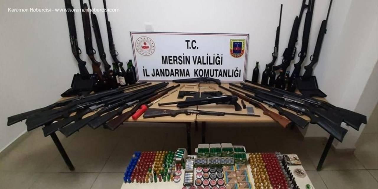Mersin'de Ruhsatsız 38 Av Tüfeği Ve 9 Kurusıkı Tabanca Ele Geçirildi