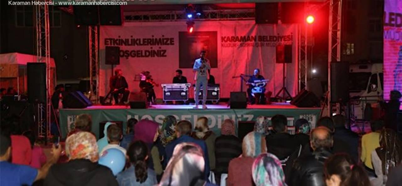 Karaman'da Abdulah Beyhan Sahne Aldı