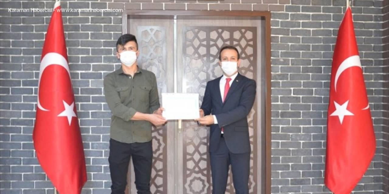Kaymakamın Maske Sınavından Geçen Gençlere Teşekkür Belgesi