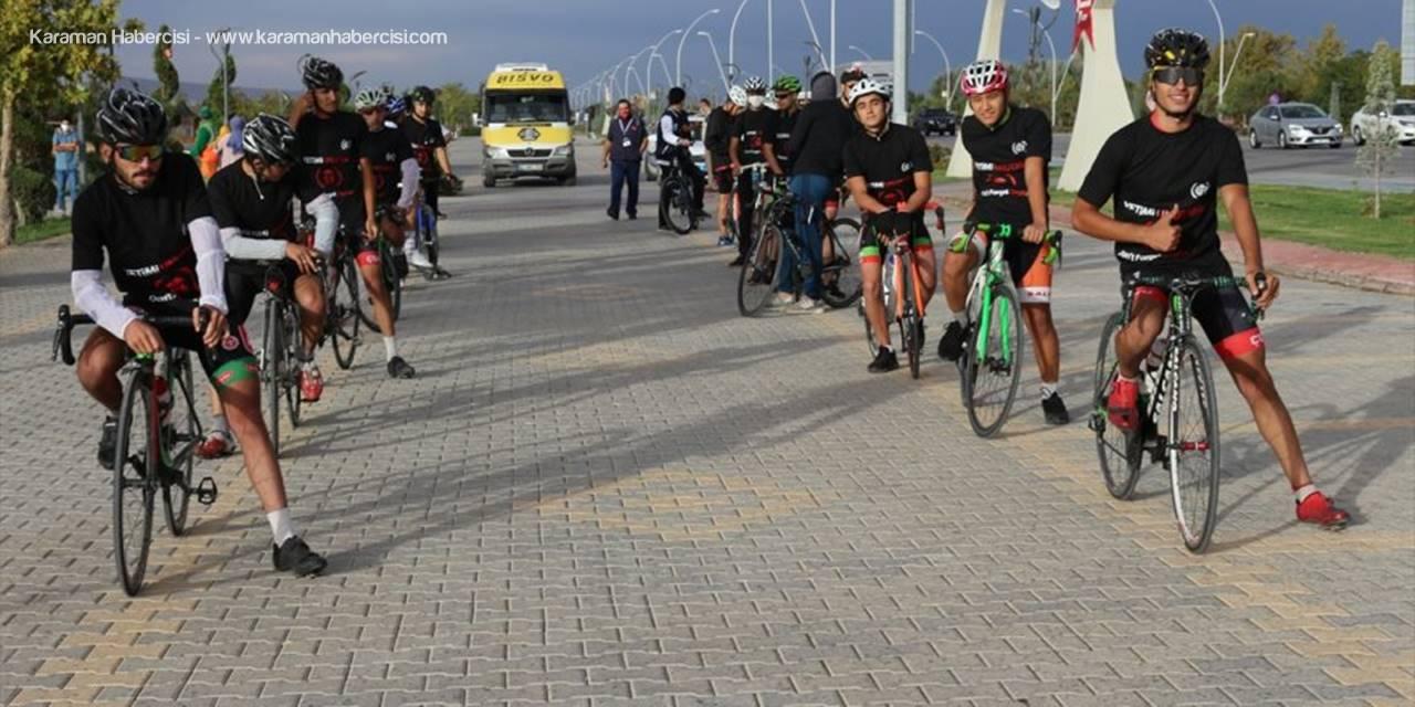 Yetimlere Farkındalık İçin Bisikletle Malatya'dan Yola Çıkan İhh Gönüllüsü Konya'ya Geldi