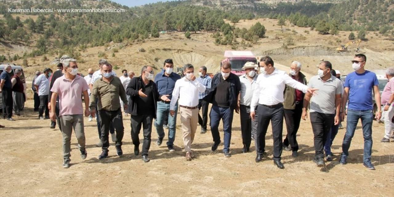 Erdemli'deki Karacaoğlan Göleti'nde Çalışmalar Yeniden Başladı
