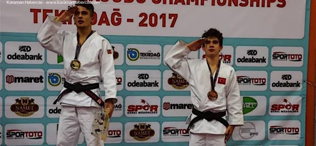 Karamanlı Milli Judocu Enes, Şampiyonada Bronz Madalya Aldı