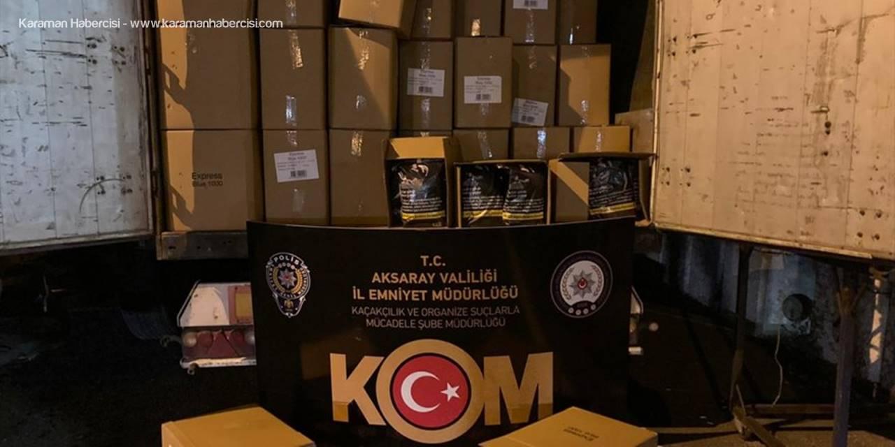 Aksaray'da Kaçak Tütün Operasyonunda 2 Zanlı Yakalandı