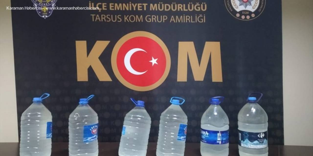 Mersin'de Sahte İçki Ve Uyuşturucu Operasyonu