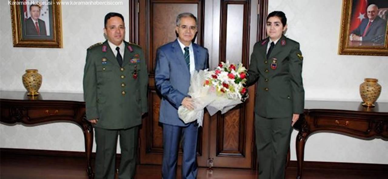 Karaman İl Jandarma Teşkilatı, Vali Tapsız'ı Ziyaret Etti