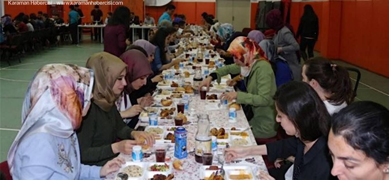 Karaman Gençlik Merkezi'nde İftar Yemeği
