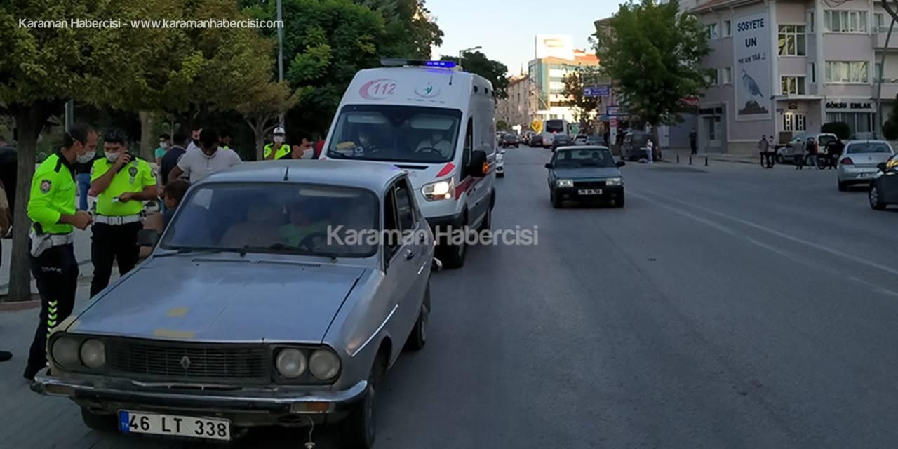 Karaman'da Yola Fırlayan Çocuk Otomobile Çarptı