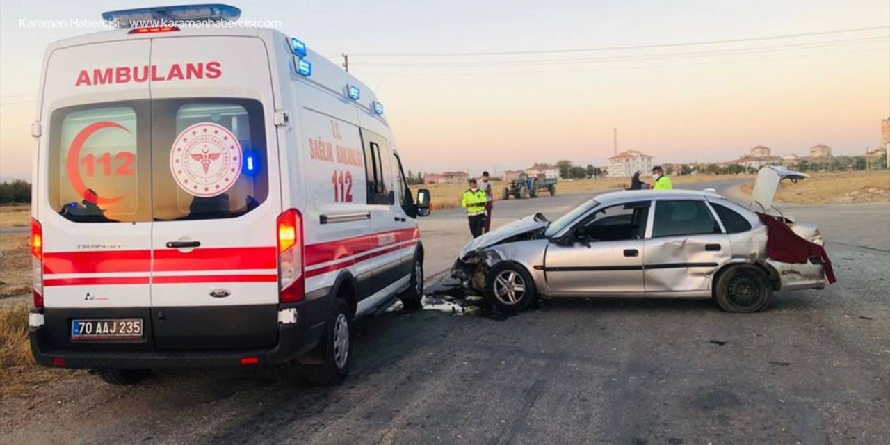 Karaman'da Tarım İşçilerini Taşıyan Minibüs İle Otomobil Çarpıştı: 11 Yaralı