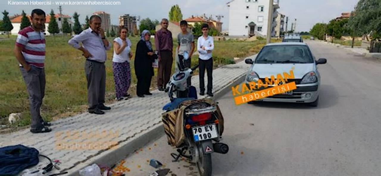 Karaman'da Motosiklet Kazası Can Aldı