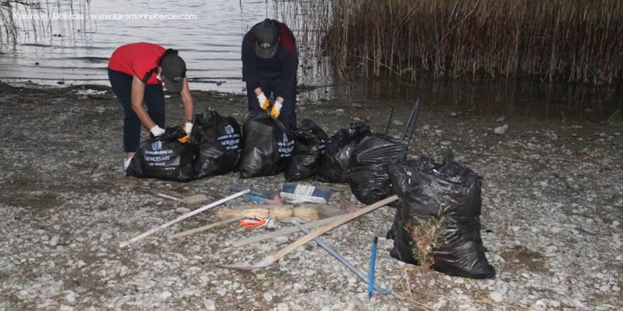 Beyşehir'de Doğadan 315 Poşet Dolusu Atık Toplandı