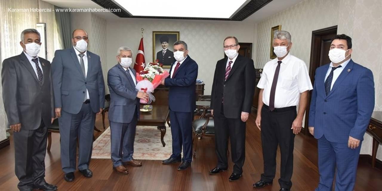 Muhtarlar Gününde Vali Mehmet Alpaslan Işık'a Ziyaret