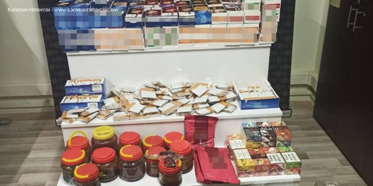 Mersin'de Kaçak Tütün Ve Sigara Operasyonu