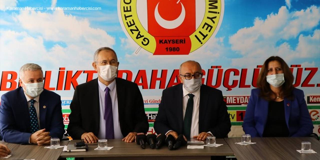CHP Heyetinden Kayseri Gazeteciler Cemiyetine Ziyaret