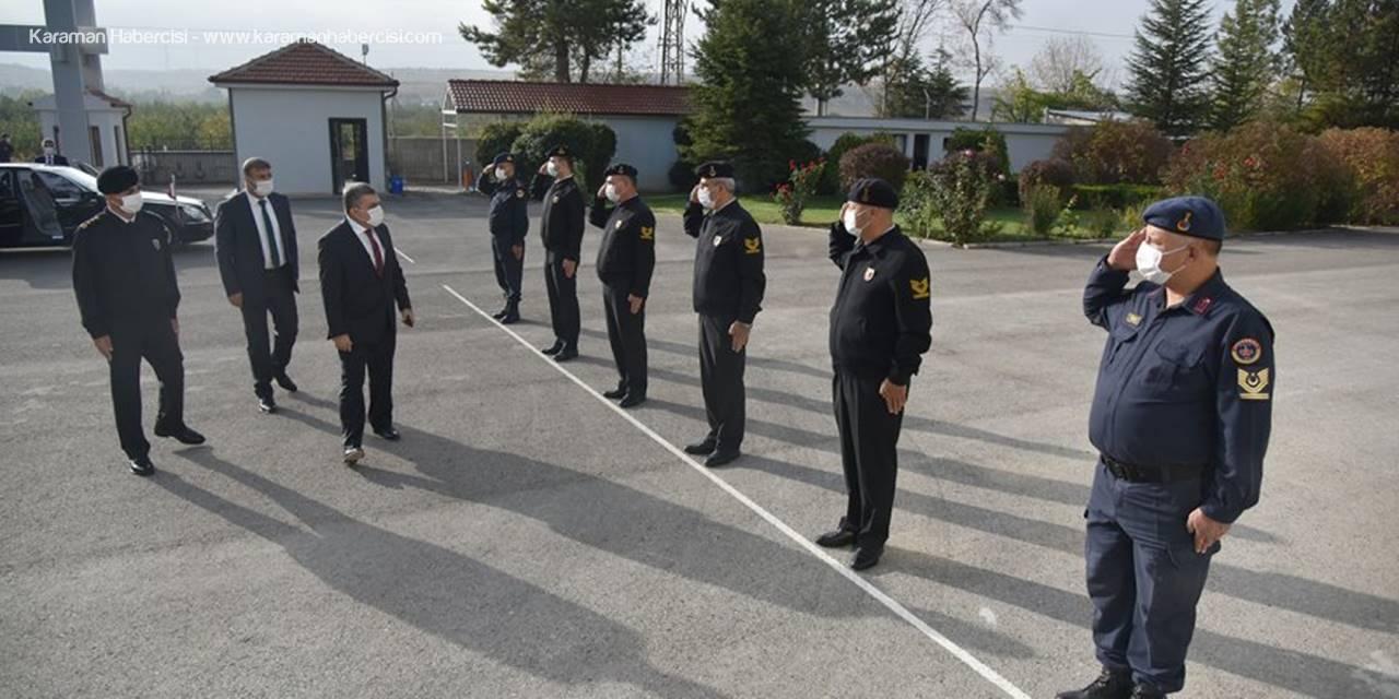 Karaman Valisi Işık İl Jandarma Komutanlığını Ziyaret Etti