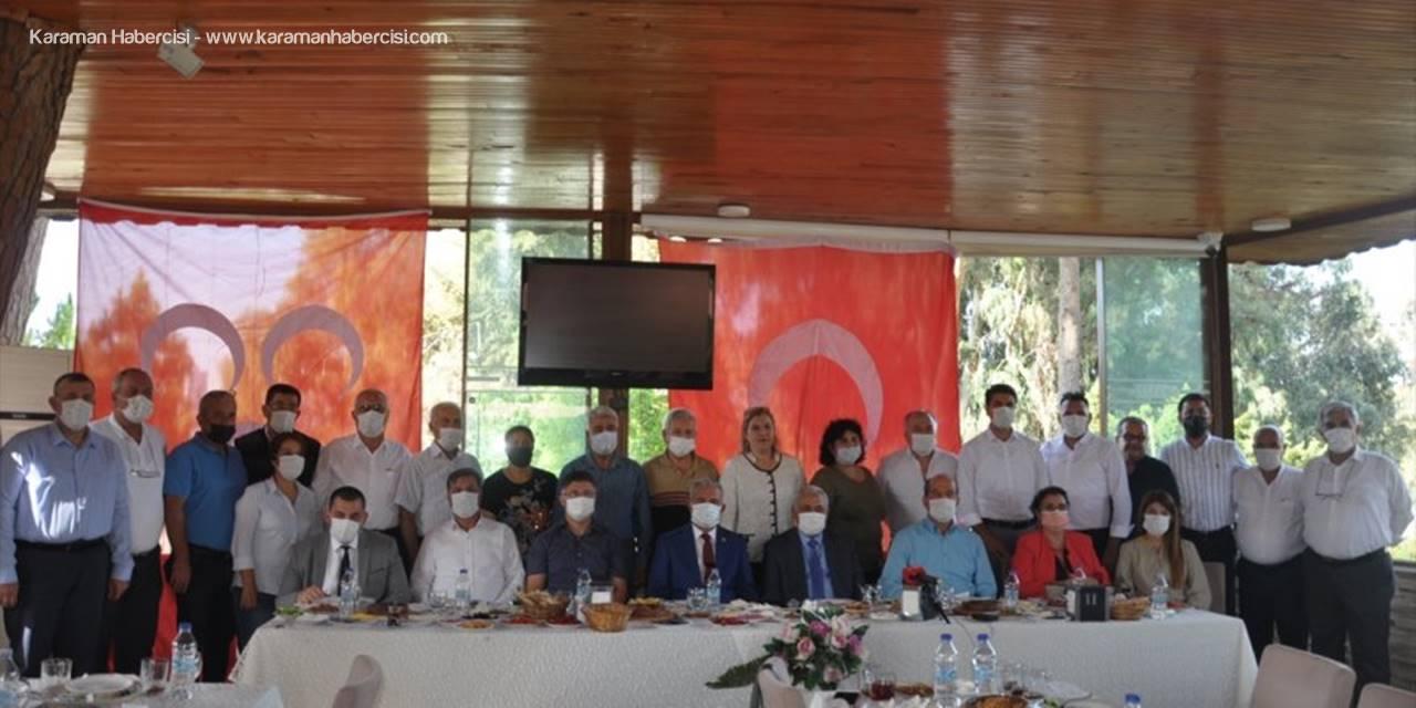 MHP Tarsus İlçe Yönetimi Gazetecilerle Bir Araya Geldi