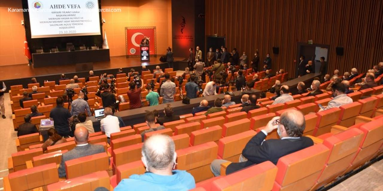 Tobb Başkanı Hisarcıklıoğlu Kayseri'de Tahkim Ve Arabuluculuk Merkezi Açılışına Katıldı: