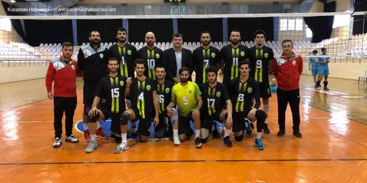 Korkuteli Belediyespor Voleybol Takımı Galibiyetle Başladı