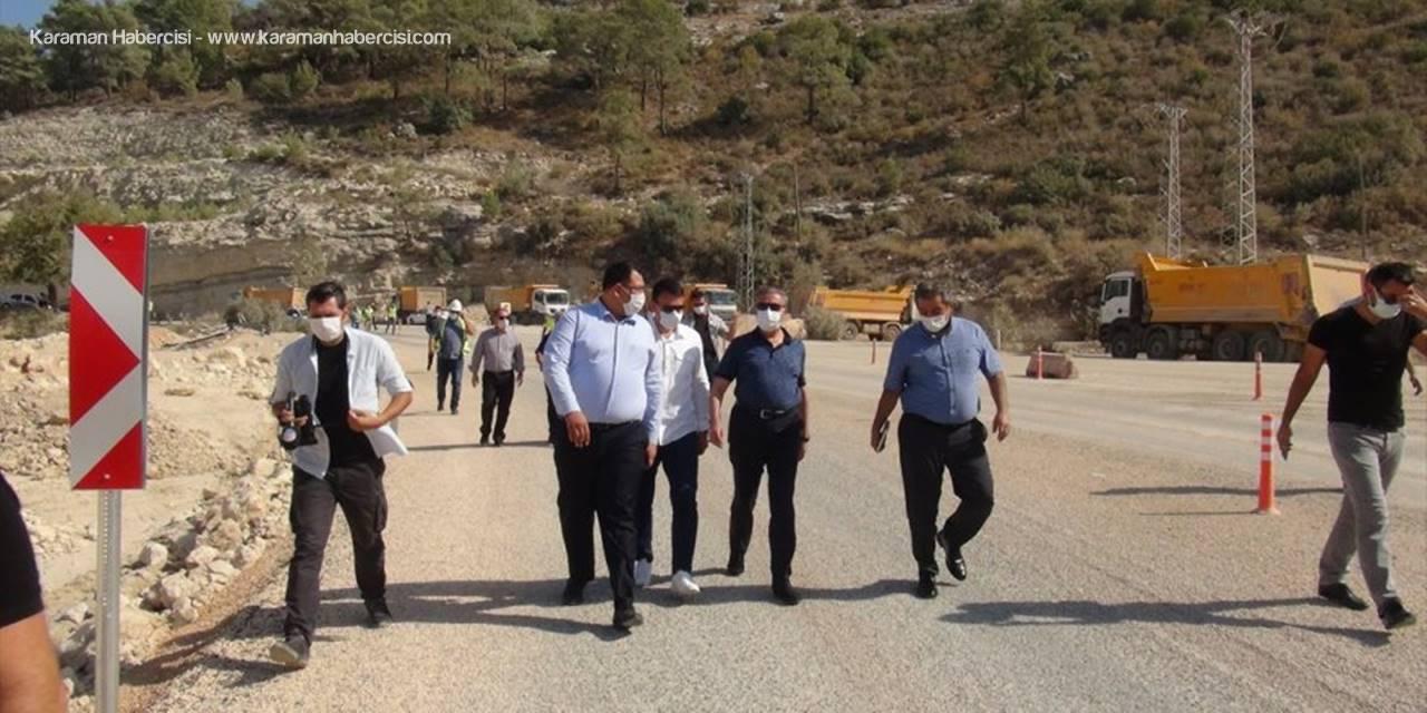 Mersin Valisi Ali İhsan Su Silifke-mut Kara Yolunda İncelemelerde Bulundu